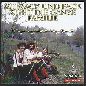 Mit Sack und Pack zieht die ganze Familie
