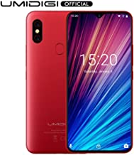 "Unlocked Smartphones, UMIDIGI F1 Play Dual 4G Smart Phone Sim Free Android 9 Pie 48MP+8MP+16MP Cameras 5150mAh Battery 64GB ROM+6GB RAM 6.3"" FHD+ Mobile Phones [Red]"