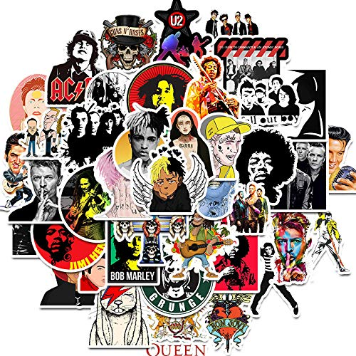 YRBB Sticker Pack 50 stuks Rock karakter muziek Retro Band Graffiti JDM Sticker voor DIY Sticker op reistas laptop skateboard gitaar koelkast telefoon