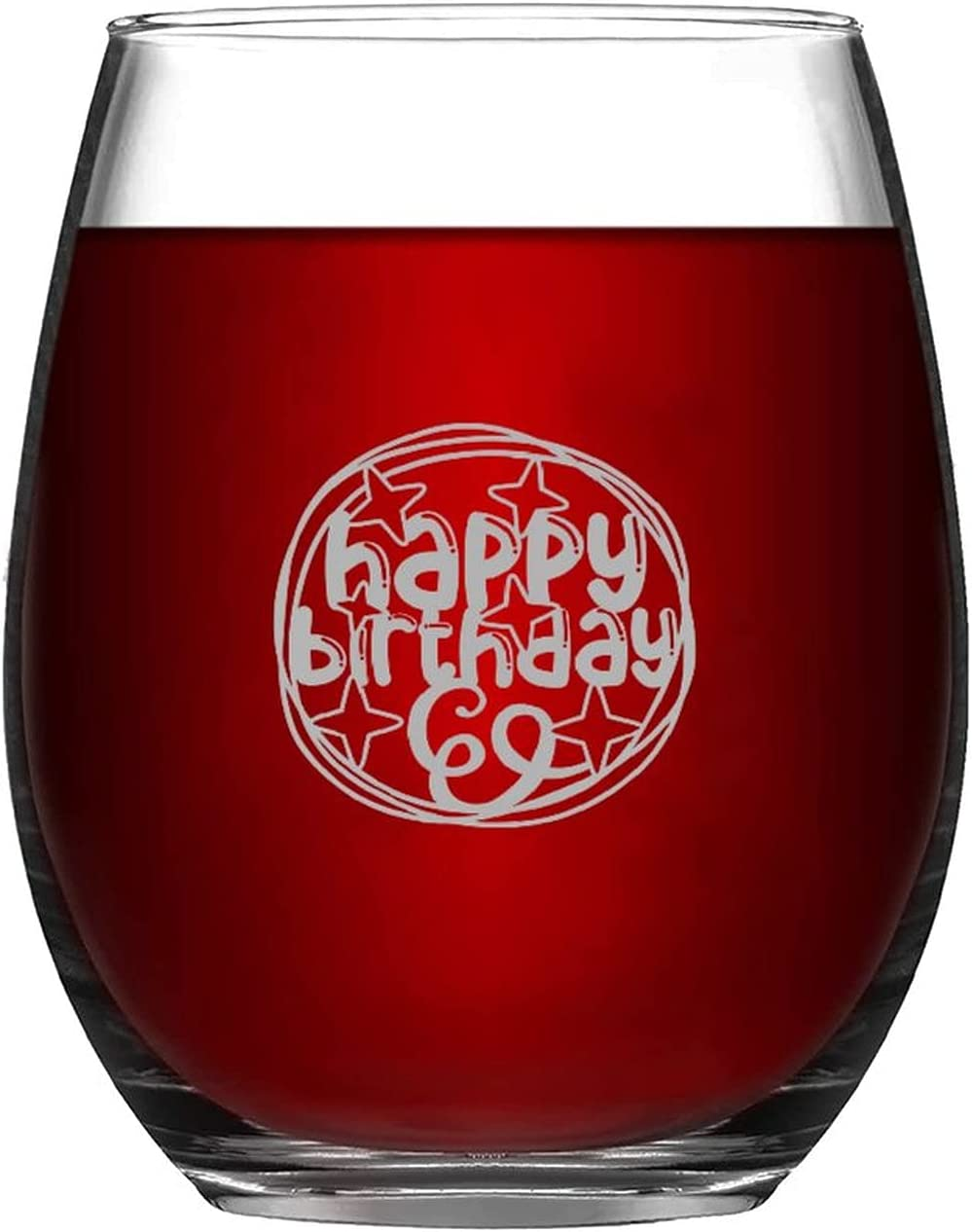 Happy Birthday shipfree Wine Glasses With Love Balloons Now on sale Durable Steml And