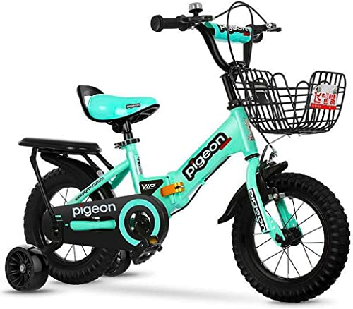 promociones de equipo LPYMX Bicicleta para Niños Niños y y y niñas Bicicletas para Niños Bicicletas Plegables verdes 12  14  16 con Cesta estabilizadora Bicicleta  con 60% de descuento