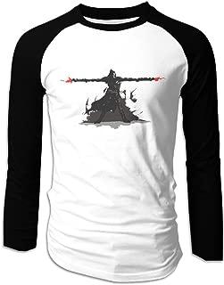 Creamfly Mens Overwatch Fire Long Sleeve Raglan Baseball Tshirt
