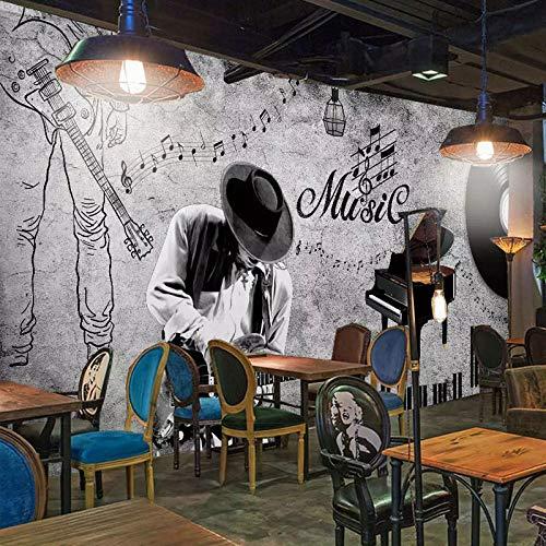 XCHBH Tapete Selbstklebende Tapete Wandbild (B) 400X (H) 280Cm3D Wandposter Graffiti Hip Hop Musik Musik Tanz Wandkunst Große Fototapete Junge Schlafzimmer Kinder Innen Dekoration Kunst