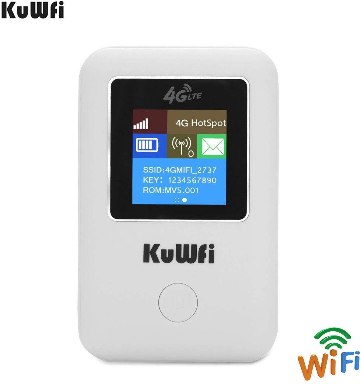 KuWFi Unlocked Support Cellular Car LCD