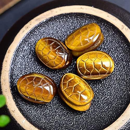 JSJJATQ Piedras de Lava Tigre's Eye Tortuga Shell Forma a Mano Tallada Cuarzo Cuarzo Curación Cristal DE Piedra Bricolaje Decoración del hogar de la joyería (Color : Coral Jade, Size : A Random)