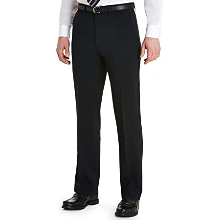 Farah Mens Slant Pocket Formal Classic Trouser Pants Black