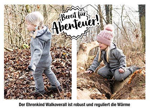 Ehrenkind® WALKOVERALL   Baby Wollwalk-Overalls aus Natur Schurwolle mit Reißverschluss   Walk Wolle Woll-Anzug für Kleinkind und Baby   Blau Gr. 74/80 - 4