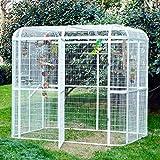 Wonline Large Walk in Bird Cage Iron Birdcages White