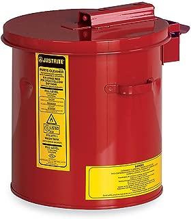 Justrite 27602 Red Steel Dip Tank - 2 Gallon Capacity