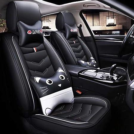 Auto Sitzbezüge Autositzbezug Full Set Wasserdichte Pu Leder Auto Sitzkissen Schutz Passt Für Toyota Corolla Highlander Prius Camry Rav4 Hybrid B Auto