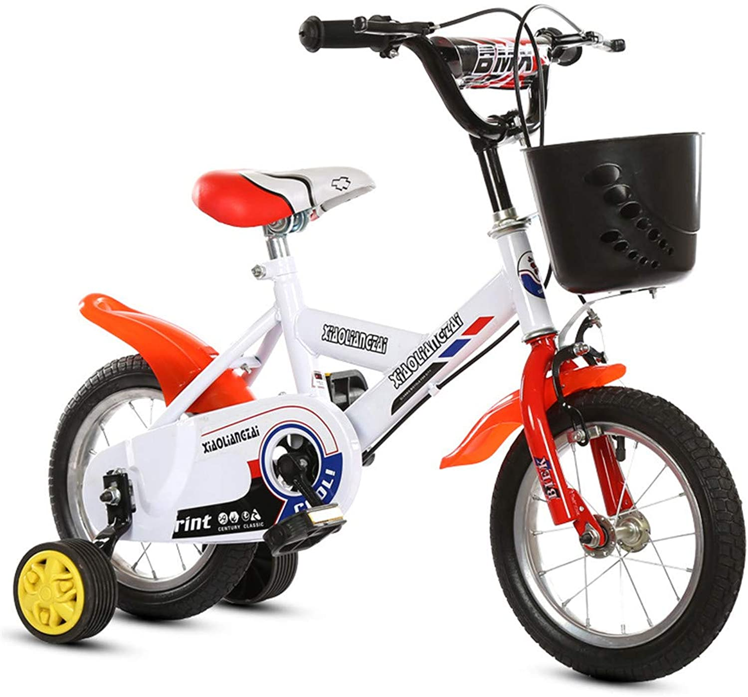 Kid Bike With Detachable Training Wheels Bicycle High Carbon Steel Frame