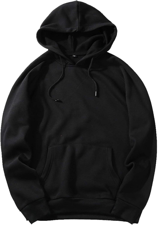 Cicilin Men's Hoodie Pullover Fleece Sweatshirts Hooded Kangaroo Pockets Tops