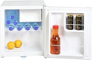 Super General 50 Liter Gross Volume Compact Mini-Refrigerator SGR035H, White Beverage-Fridge with Child Lock, Shelf, Freez...