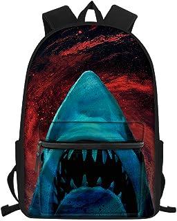 Mochila para estudiantes de escuela primaria con estampado animal para niñas y niños, mochila impermeable, tiburón (Azul) - Nopersonality