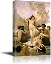 The Birth of Venus by William Adolphe Bouguereau Giclee Canvas Prints Wrapped Gallery Wall Art | Stretched and Framed Ready to Hang - 16