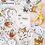 BLOUR Nette Cartoon Tiere Haustiere Aufkleber Scrapbooking Kindertagebuch Aufkleber Student Supplies Stationery45pcs / Set