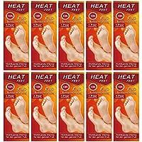 M&H-24 Plantillas Calentadoras para Pies y Zapatos - 10 Pares de Plantillas Termicas Calefactables para Pies Calientes en Invierno hasta 10 Horas 38 °C, Talla 36-41