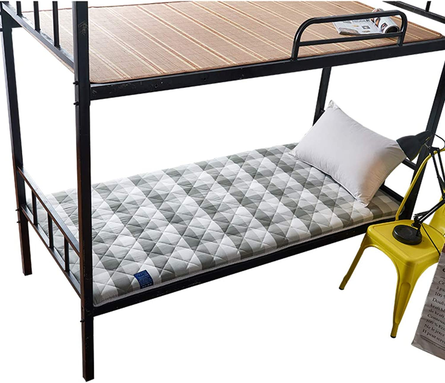 Breathable Japanese Traditional futon Mattress,Folding Compact Fluffy Anti-Bacterial Tatami Student Dormitory-A Full 120x200cm(47x79inch)