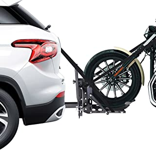 AMPERSAND SHOPS 800-lb. Capacity Motorcycle Trailer Hitch Carrier Hauler Tow Towing Dolly Rack 2