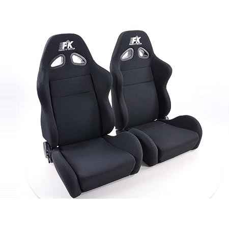 Fk Sportsitze Halbschalensitze Set Sport Stoff Schwarz Mit Sitzheizung U Massage Amazon De Auto
