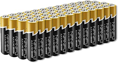 NANFU No Leakage Long Lasting AA 48 Batteries [Ultra Power] Premium LR6 Alkaline Battery 1.5v Non Rechargeable Batteries for Clocks Remotes Games Controllers Toys & Electronic Device …
