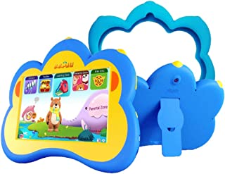 Kids Tablet, 7 Inch HD English Edition 120+ Pre-Loaded Apps Tablet, 8G Quad Core Android Tablet with WiFi and Camera Learning Machine-Blue