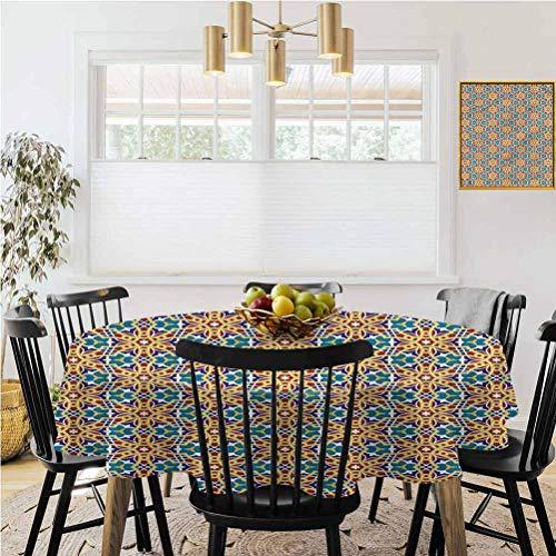 Ronde tafelkleed, Tassel tafelkleed, Arabisch, Sier Midden-Oosten Motief Tafelkleed Keuken Restaurant Party Decoratie
