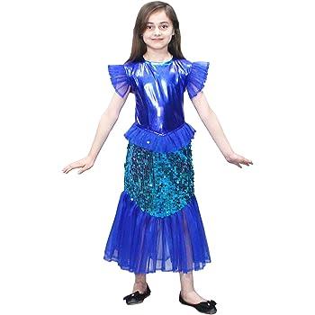 Magical Mermaid Girls Fancy Dress Fairy Tale Sea Creature Kids Book Day Costume