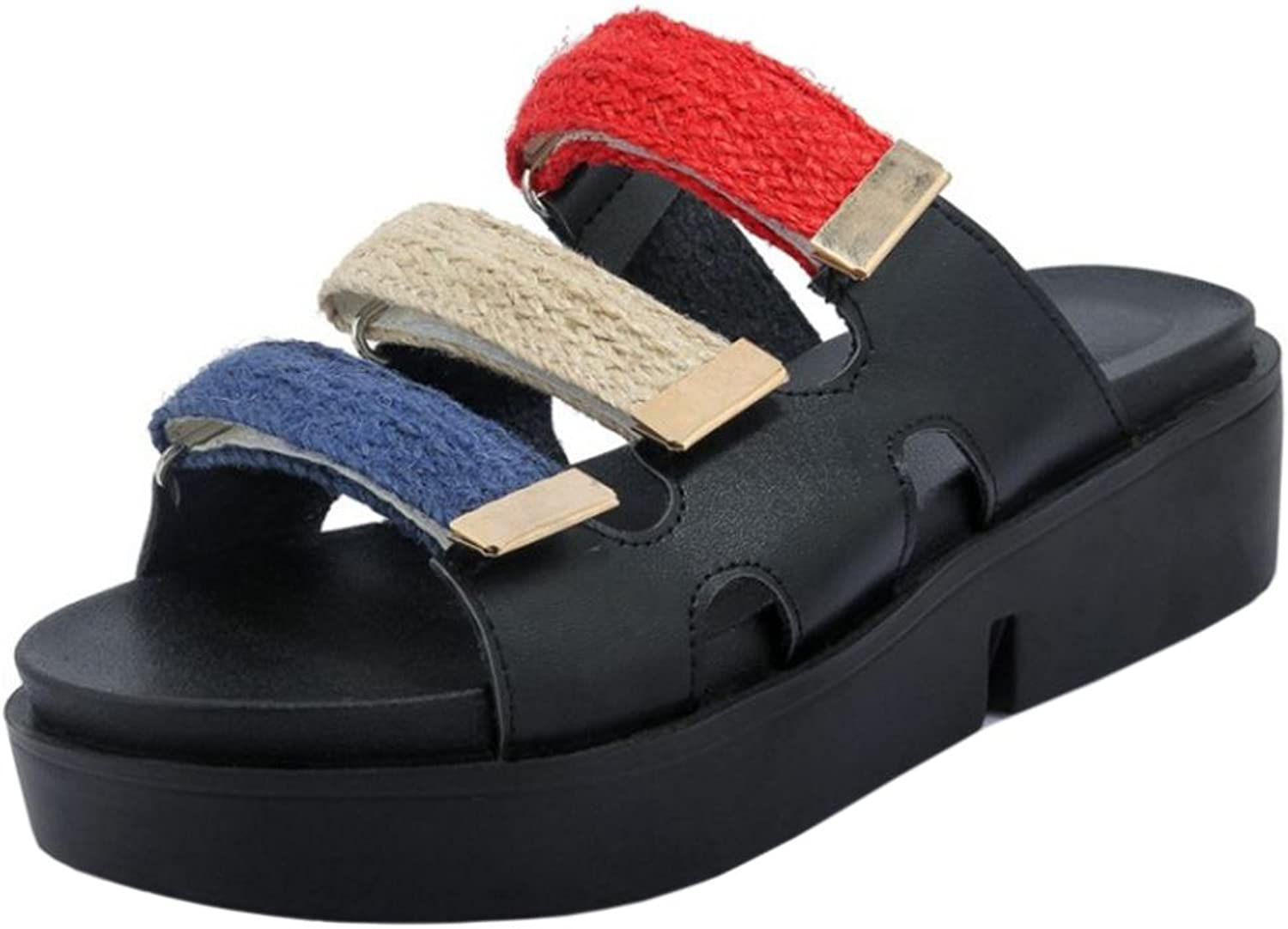 RizaBina Women Unisex Buckle Sandals