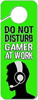 Graphics and More Do Not Disturb Gamer at Work Boy Male Man Plastic Door Knob Hanger Sign