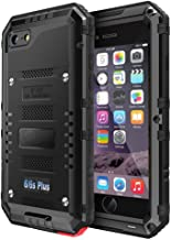 iPhone 6 6S Plus Waterproof Case, CarterLily Underwater Full Body Heavy Duty with Built-in Screen Snowproof Shockproof Dropproof Tough Rugged Hybrid Hard Military Cover for iPhone 6 6S Plus-Black