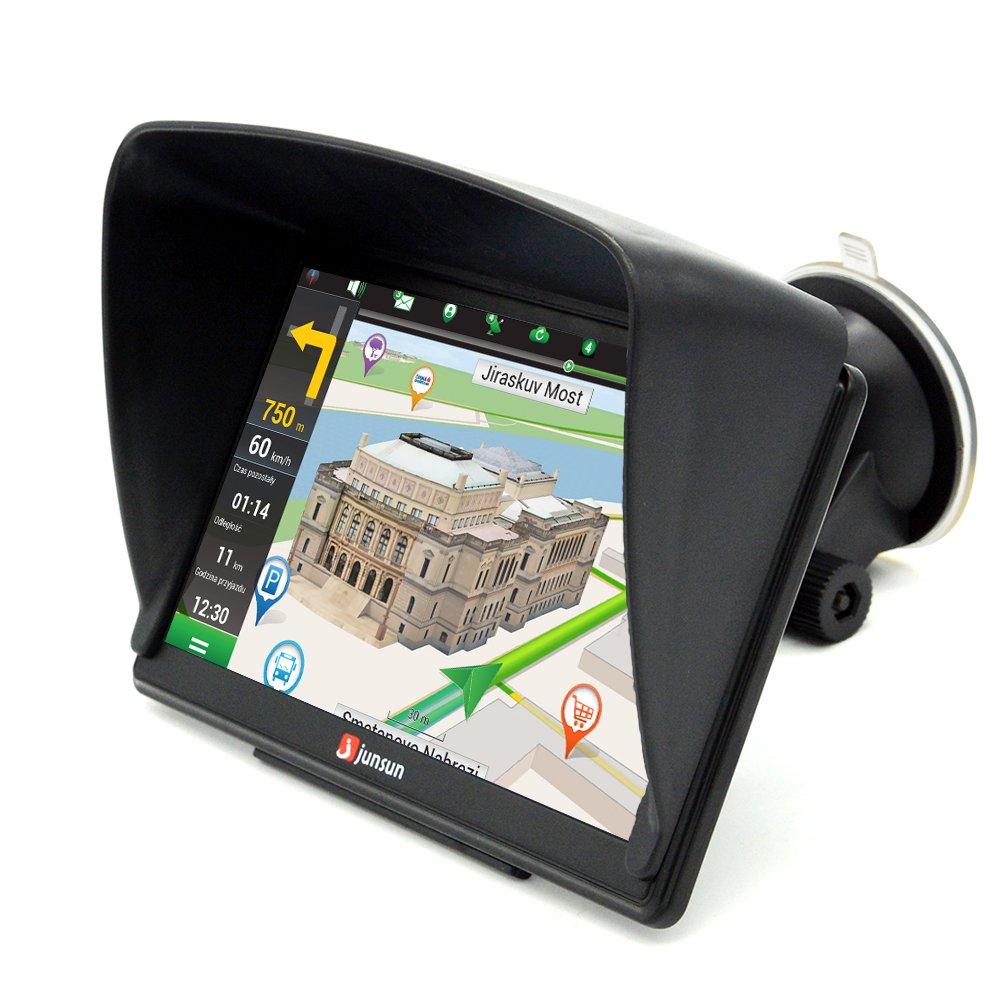 GPS Para Coche 8Gb/256Mb Ddr/800Mhz Actualización de Mapa de Europa Toda la Vida - Junsun: Amazon.es: Electrónica
