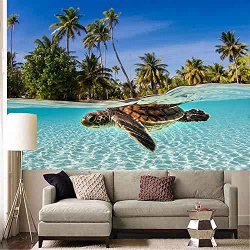 WERT Tapiz de Paisaje Colorido Tapiz con Estampado de Peces bajo el Agua Tapiz Bohemio decoración del hogar Tela de Fondo A3 150x200cm