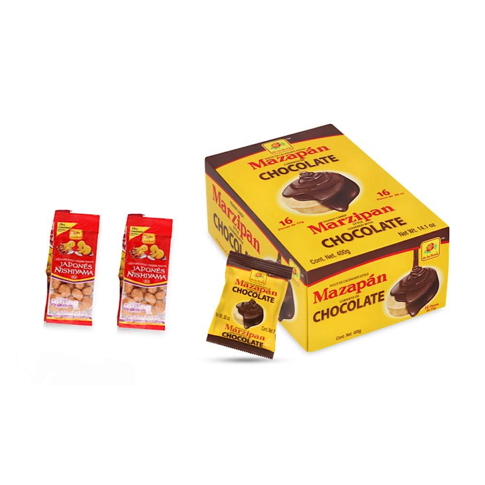 Box De La Mesa Max 52% OFF Mall Rosa Mazapan covered chocolate Pieces Authentic 16 of