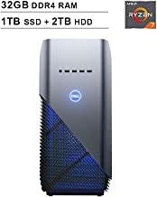 2019 Newest Dell Premium Inspiron Gaming Desktop (AMD 8-Core Ryzen 7 2700 up to 4.1GHz, 32GB DDR4 RAM, 1TB SSD (Boot) + 2TB HDD, AMD Radeon RX 580 4GB, WiFi, Bluetooth, HDMI, Windows 10, Blue)