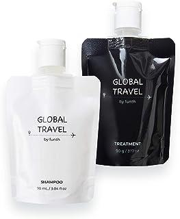 トラベルセット【旅サロン】GLOBAL TRAVEL グローバルトラベル シャンプー 90ml & トリートメント 90g 旅行用 硬水対応