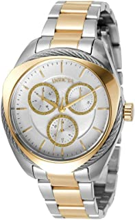 Invicta Women's Bolt Quartz Watch with Stainless Steel Strap, Two Tone, 18 (Model: 31224)