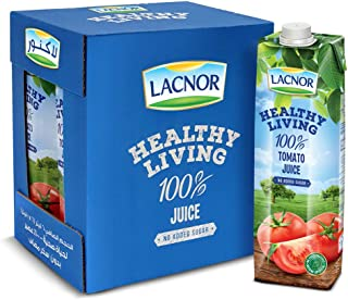 Lacnor Healthy Living Tomato Juice - 1 Litre (Pack of 6)