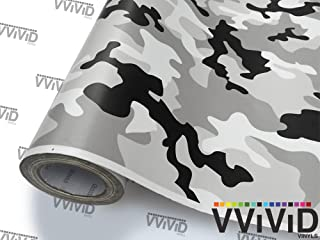 VViViD Snow Camouflage Vinyl Car Wrap Adhesive Decal DIY Air Release Roll (10ft x 5ft)