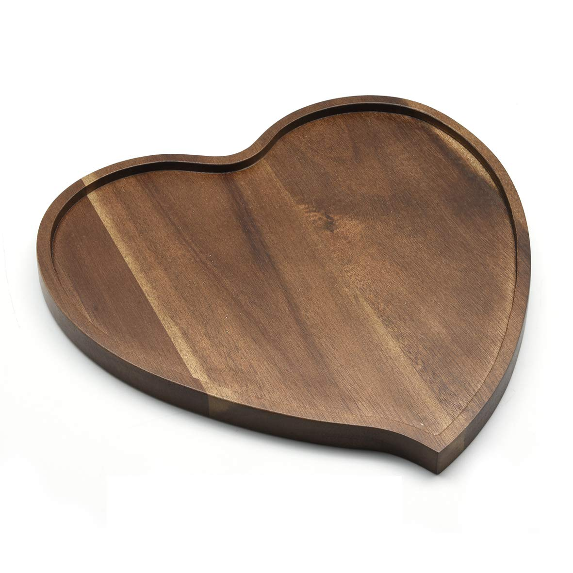 10 Acacia Wood Heart Shaped Bowls Sustainably Harvested Fair Trade