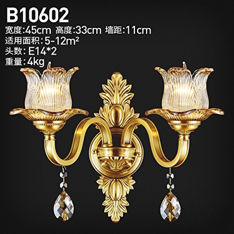 StiefelU LED Wandleuchte nach oben und unten Wandleuchten Kupfer Crystal Wand lampe Schlafzimmer Nachttischlampe im Wohnzimmer, antiken Hyun-off-Studie, Dual-head-B10602