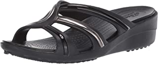 crocs Women's Sanrah Metalblock Strap Wedge Sandal