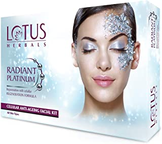 Lotus Radiant Platinum Anti-Ageing Facial Kit with 4 easy steps 37g (Single Use)