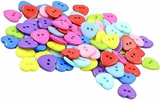 Botones en Forma de Corazón 6 X 14mm tamaño 22 2 AGUJERO BOTONES