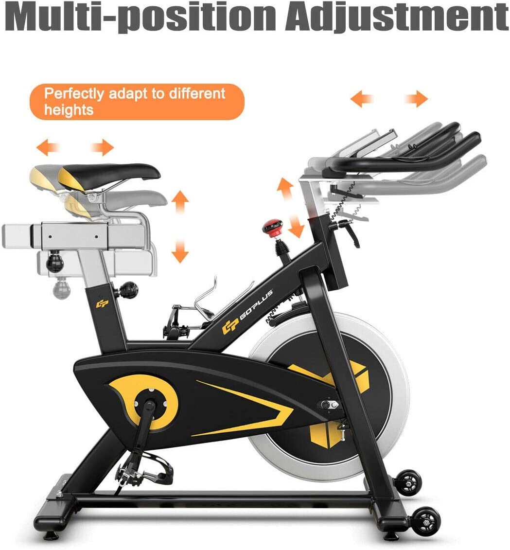 Indoor Cycling Bike for Home Gym Cardio Workout 30 lbs Flywheel with LCD Monitor Goplus Magnetic Exercise Bike Stationary Belt Drive Bicycle