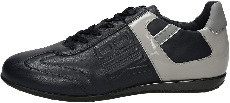 DIRK BIKKEMBERGS Mens shoes Revolution 331 BKE106931 Leather Navy Sneakers