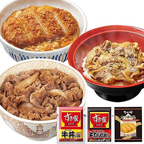 お試しセット 牛×牛カルビ×カツ(牛丼の具 5パック × 牛カルビ丼の具 5パック × なか卯 カツ丼の具 4食)冷凍食品