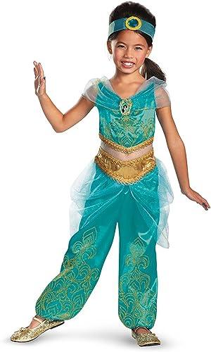 Disguise Disney's Aladdin Jasmine Sparkle Deluxe Girls Costume, 7-8