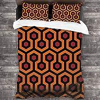 布団カバー シングル 3点セット 寝具カバー セット ベッド用 布団用 掛け布団カバー アンティークレッドイエローブラックペルシャ絨毯 肌に優しい