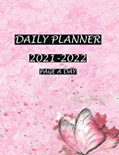 Daily Planner 2021-2022 Page A Day: Daily Planner , Monthly Calendar, Schedule Organizer To Do List, Goals, and Agenda for...